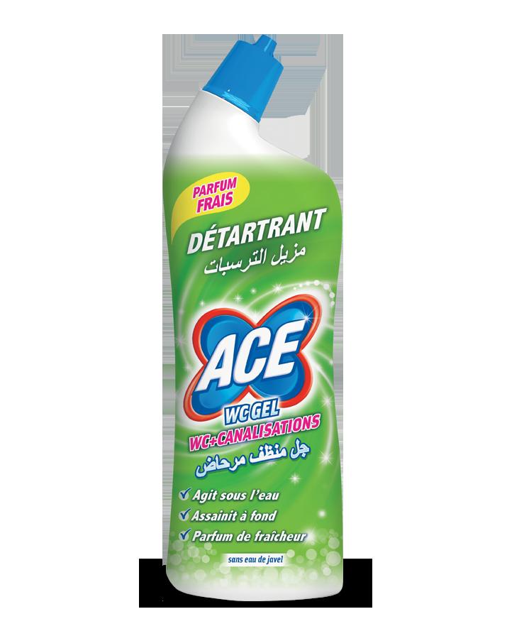 Pour le nettoyage et l'hygiène des WC, le gel sans eau de javel au parfum de fraîcheur.
