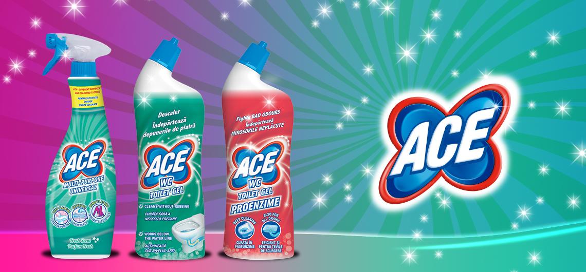 ACE new generation, do sprzątania całego domu i wstępnego prania ubrań białych i kolorowych