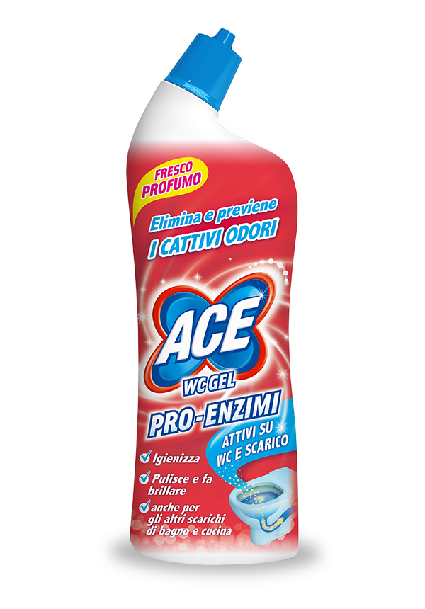 cattivi odori lavandino ace wc gel pro enzimi